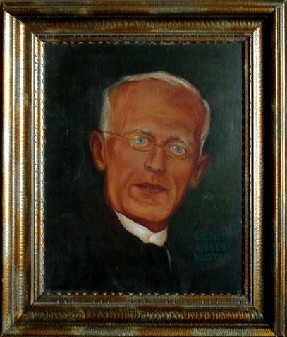 Pastor Otto Vogel - gemalt von CW Vogel im Alter von 14 Jahren