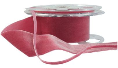 velvet ribbon, various widths & colours