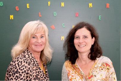 Die staatlich anerkannte Sprachtherapeutin Nora Rauschenbach-Bürgel, (links) und die staatlich geprüfte Logopädin Veronika Harlan, (rechts)