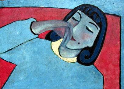 Margrit Schweicher, Selbstportrait,Malerei Trier, Trierer Malerei, Kunst, 50er Jahre