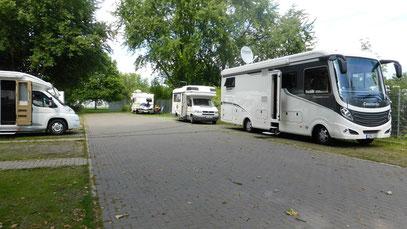 Stellplatz in Gifhorn, ca. 20 km entfernt von Wolfsburg.