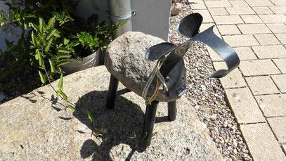 Unser Schatz heute: Versteinertes (Findling-) Schaf mit Kopf und Beinen