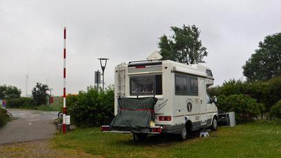 Stellplatz Klausdorfer Strand bei Regen