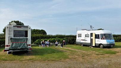 Plauderstündchen auf dem Camping-und Stellplatz Klausdorfer Strand