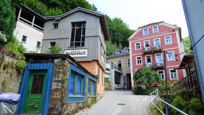 Schmilkaer Mühle, zwischen Bad Schandau und der  tschechischen Grenze an der B172