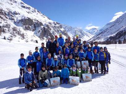 photo groupe ski club bozel