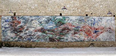 Notre Infini - acrylique sur toile, 9.6 m x 2.15 m, 2015
