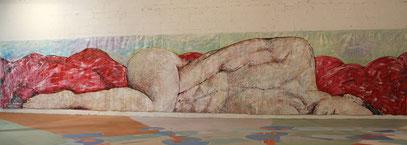 Infini Mon Amour - acrylique sur toile, 12 m x 2.15 m, 2015