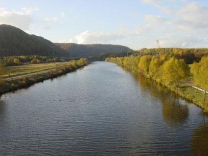 Saar bei Roden flussabwärts  in Richtung Dillingen