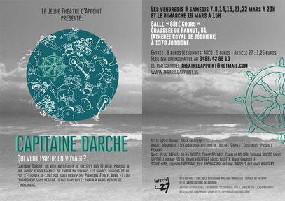 Jeune Théâtre d'Appoint - JTA - Capitaine Darche - Spectacle 2014 mis en scène par Virgile Magniette