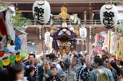 諏訪神社例大祭,立川,
