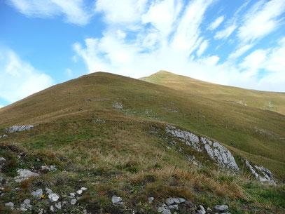 Blick zur Bleispitze beim Anstieg aus dem Sommerbergjöchle
