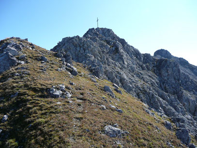 Kurz vor dem Gipfel der Wannenspitze