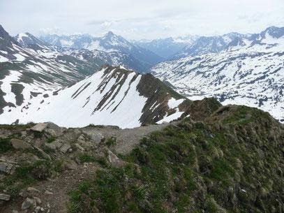 Höfergrat vom Gipfel gesehen