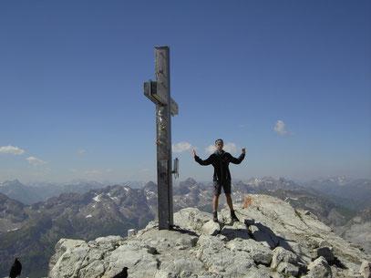 Am Gipfel des Hochvogel