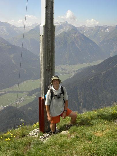 Am Gipfel der Rotwand über dem Lechtal