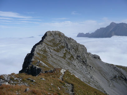 Blick von der Upsspitze zum Daniel und zur Zugspitze