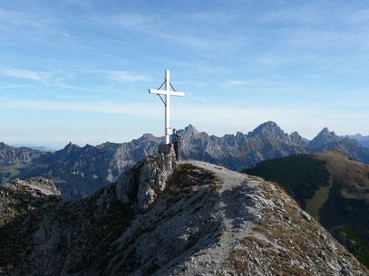 Am Gipfel des Litnisschrofen