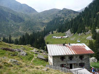 Die Bockerhütte im Spronser Tal