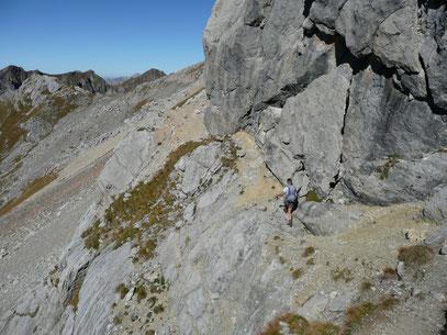 Am Höhenweg unterhalb der Feuerspitze,zwischen Stierlahnzugjoch und Kälberlahnzugjoch