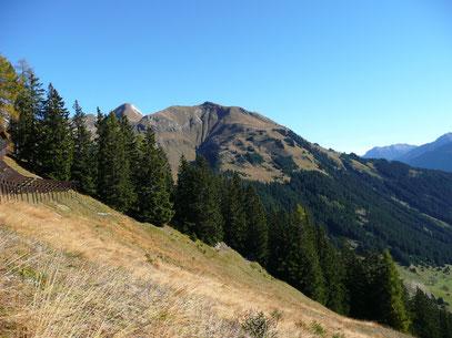 Blick zur Jöchlspitze,beim Aufstieg zum Holzgauer Muttekopf
