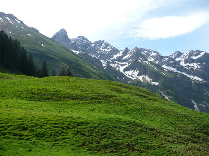 Wildengundkopf (Ganz links) mit dem Allgäuer Hauptkamm