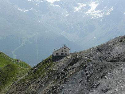 Die Tabaretta Hütte auf der Marltschneid