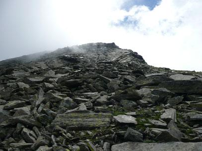 Sefiarspitze Gipfelbereich