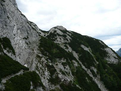 Der letzte Abschnitt zum Gipfel des Lindlähnkopf