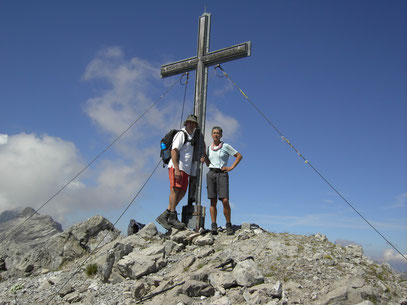 Am Gipfel der Klimmspitze