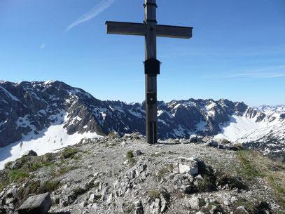Blick von der Rotspitze zum Hindelanger Klettersteig