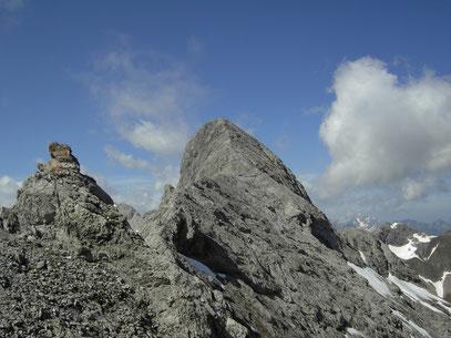 Der Bockkarkopf beim Aufstieg zur Bockkarscharte