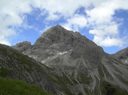 Der Große Krottenkopf beim Abstieg
