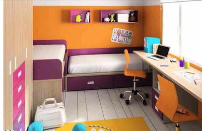 Muebles infantiles juveniles mr muebles modulares para - Dormitorio juvenil doble ...