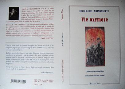 Couverture de mon premier recueil de poèmes, chez Flammes Vives.