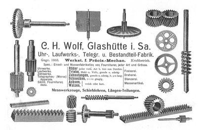 Firmenwerbung aus dem Jahr 1904