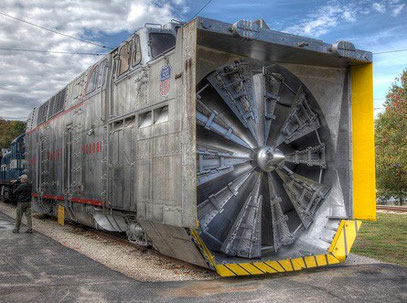 3000 HP Union Pacific Rotary Snow Plow