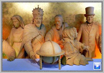 Lebensgroße Figuren im Marzipan-Salon in Lübeck