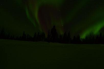 """Traumhafte Polarlichter - vor unserem Haus """"Astrid Lindgren"""""""