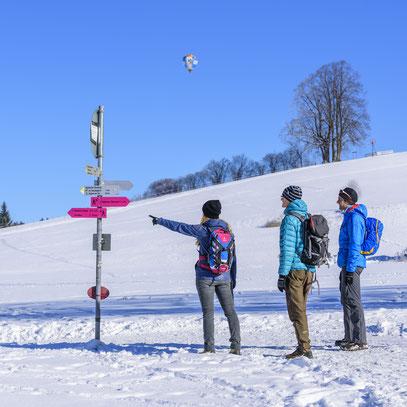 Winterwandern Konzepte Wintersport Winterwanderwege Beschilderung