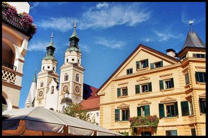 Brixen mit seinem Dom im Hintergrund