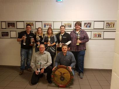 Pokalsieger Falkenrott 2017, Endy Warner, Cindy Postmar, Birgit Voß, Dennis Voß, Dominik Kupka, Bodo Tegeler, Willem de Vos