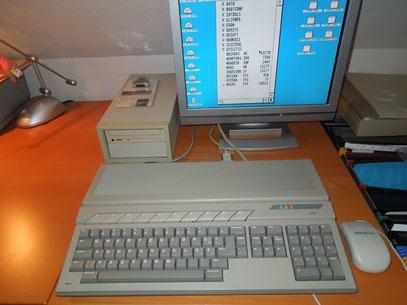 Falcon 030 mit externer Festplatte und CD Laufwerk !