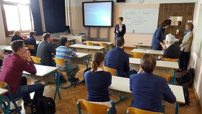 Von der Bildungsqualität konnten sich die Teilnehmer an drei Schulen in Ljubljana vielfach überzeugen, hier das Gimnazija Bežigrad. Foto: Ulrichs