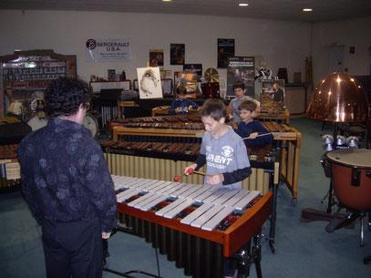 Découverte du xylophone, du vibraphone et du marimba