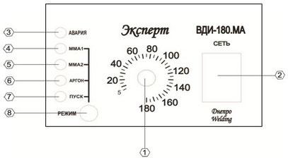 Лицевая панель инвертор Днепровелдинг ВДИ-180