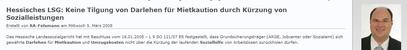 RA in Kiel - Hessisches LSG Keine Tilgung von Darlehen - klick mich...