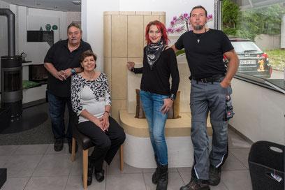 Geschäftsübernahme 2015 v.l. Werner Albiker, Elke Albiker, Manuela Albiker-Hermann, Michael Albiker