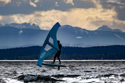 foil and board by isup surfing