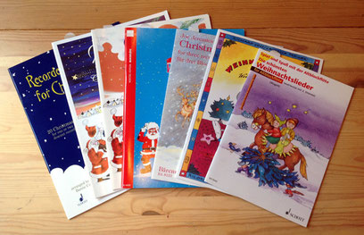 クリスマス用楽譜のコレクション